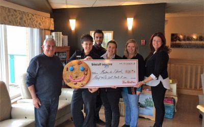 La Maison de l'envol recevra 9 131 $ grâce à la campagne du Biscuit Sourire de Tim Hortons