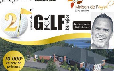 Le 21e tournoi de golf annuel aura lieu le 7 août 2020!